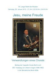 Jesu, meine Freude - Cappella Vocale Berlin