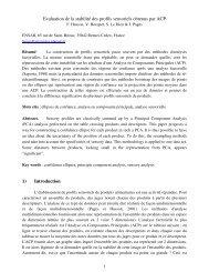 Evaluation de la stabilité des profils sensoriels obtenus par ACP 1 ...
