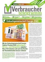 September/Oktober 2013 - Verbraucherzentrale Südtirol