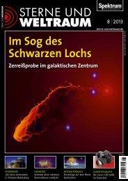 Sterne und Weltraum Magazin - August 2013