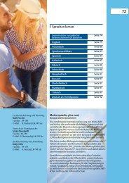 2013-2014 Sprachen lernen - Bildungszentrum Wolfenbüttel