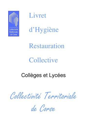 Livret d'Hygiène Restauration Collective