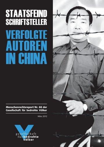 GfbV-Report Staatsfeind Schriftsteller - Verfolgte Autoren in China