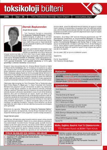 içindekiler Haberler - Türk Toksikoloji Derneği