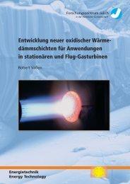 Entwicklung neuer oxidischer Wärme - Forschungszentrum Jülich