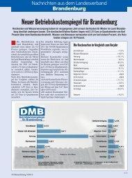 Neuer Betriebskostenspiegel für Brandenburg - Deutscher Mieterbund