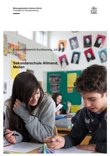 Kurzfassung-Evaluationsbericht-Sek Allmend Meilen - Schule Meilen