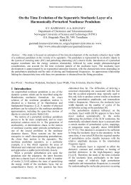On the Time Evolution of the Separatrix Stochastic Layer ... - Wseas.us