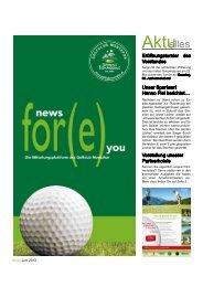 Ausgabe Juni/Juli 2013 - Golfclub Montafon