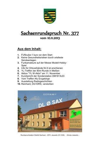 Nr. 377 vom 10.11.2013 - Rundspruch-Archiv des DARC-Distrikts ...
