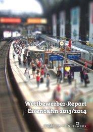 Wettbewerber-Report Eisenbahn 2013/2014 - Netzwerk Privatbahnen