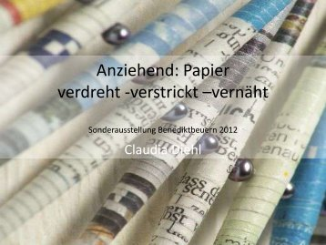 Anziehend: Papier verdreht -verstrickt -vernäht - Claudia Diehl