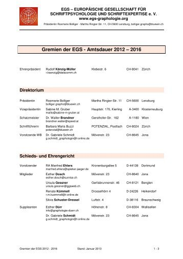Gremien 2012 - 2016 Stand Januar 2013 farbig - EGS