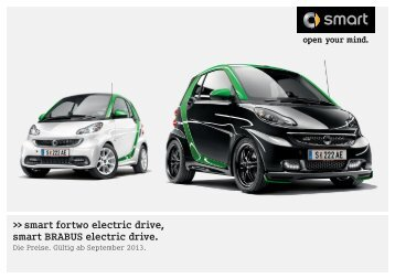 Preisliste electric drive - Smart
