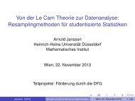 Von der Le Cam Theorie zur Datenanalyse - Institute for Statistics ...