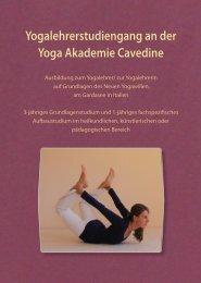 Yogalehrerstudiengang an der Yoga Akademie Cavedine