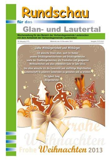 Amtsblatt KW 51 - Verbandsgemeinde Lauterecken