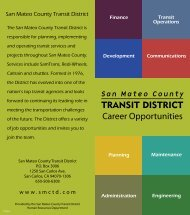 Career Opportunities Brochure - San Mateo County Transit District