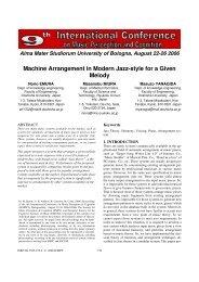 Machine Arrangement in Modern Jazz-style for a ... - Prof. Marco Costa