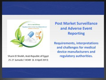 Post Market Surveillance & Adverse Event Reporting What is an