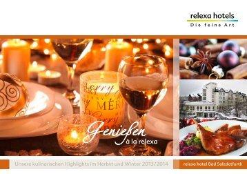 Kulinarische Highlights Herbst und Winter 2013-14 - relexa hotel ...
