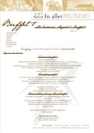 Buffet 1 - Feinkost Kulinaris
