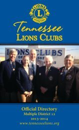 2013 Directory - District 12-O Lions Club
