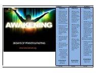 Awakening Prayer Guide. - Mavuno Church