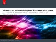Bearbeitung und Wiederverwendung von PDF Inhalten mit ... - tekom