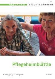 Pflegeheimblättle - Pflegeheime Dornbirn