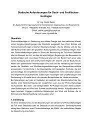 Statische Anforderungen für Dach- und ... - Schletter GmbH