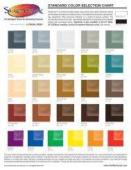 standard color selection chart - Decorative Concrete Stains
