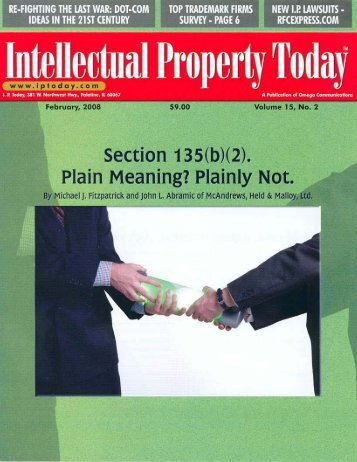 Section 135(b)(2). Plain Meaning? Plainly Not - McAndrews, Held ...