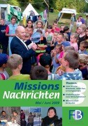 Nachrichten 2009-3 - Missionswerk FriedensBote