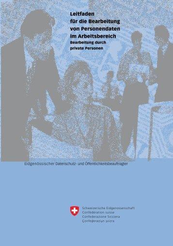 Leitfaden für die Bearbeitung von Personendaten im Arbeitsbereich
