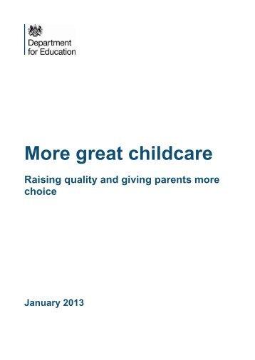 Great Childcare - Gov.uk