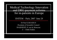 M di lT h l I i Medical Technology Innovation and ... - Euro-Pharmat