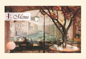 Jídelní lístek - Hotel & Restaurant VIA IRONIA