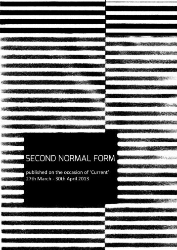 second normal form - Alpha 60 Projects