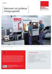 Mehrwert mit größerer Fertigungstiefe - EMCO
