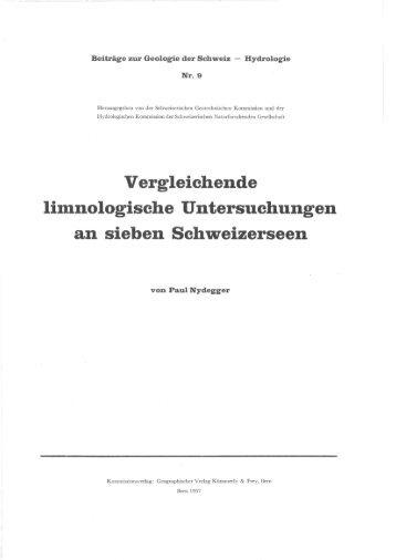 Vergleichende limnologische Untersuchungen an sieben ...