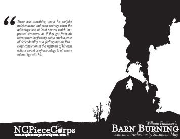 An analysis of barn burning a short story by william faulkner