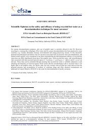 Scientific Opinion on the safety and efficacy of using ... - Eurocarne