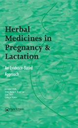 Herbal Medicines in Pregnancy and Lactation : An Evidence-based ...