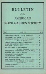 BULLETIN - North American Rock Garden Society