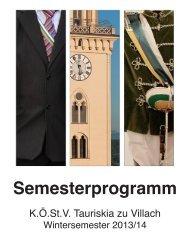 Semesterprogramm - Tauriskia zu Villach