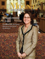 Transforming Lives - Mount St. Mary's College