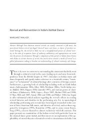 revival and reinvention in india's Kathak dance - University of Toronto