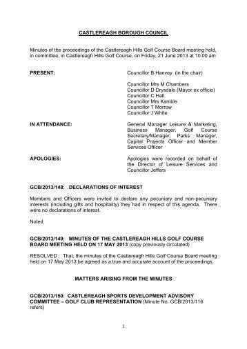 CASTLEREAGH BOROUGH COUNCIL