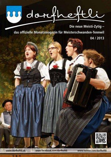 das offizielle Monatsmagazin für Meisterschwanden ... - dorfheftli